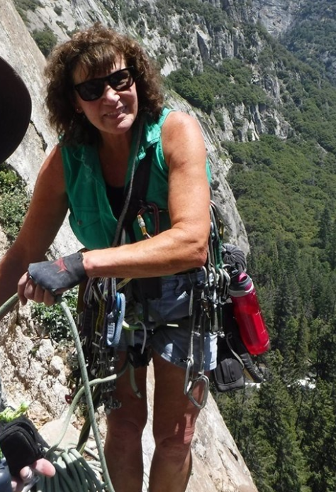 Photo of Patricia Stoops, a skilled rock climber, who died in Yosemite National Park in June.