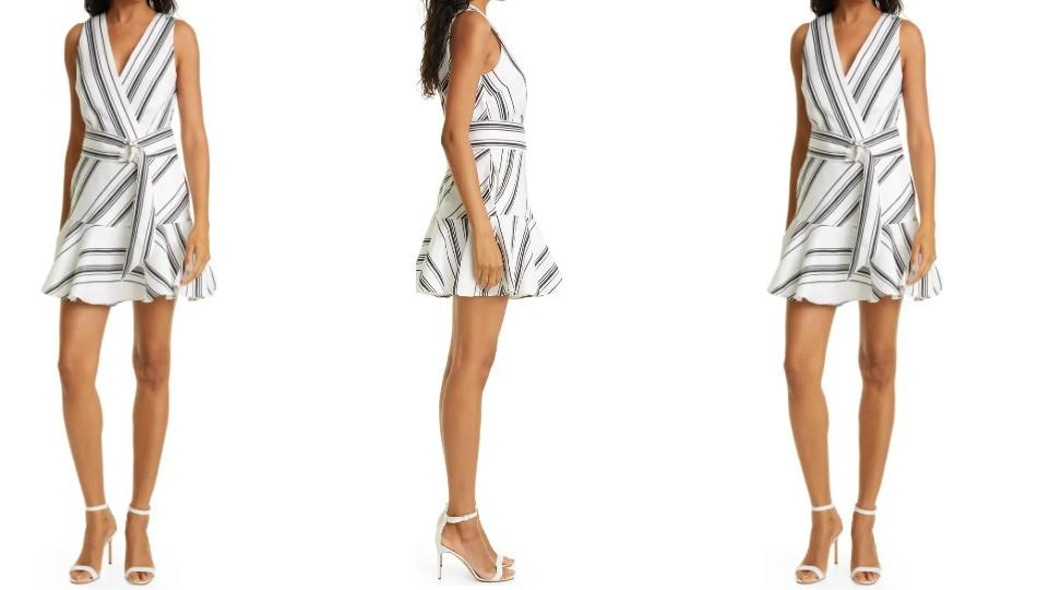 Ted Baker London Directional Stripe Linen & Cotton Sleeveless Dress - Nordstrom, $262 (originally $349)