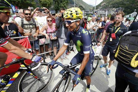 FILE PHOTO: Cycling - Tour de France cycling race - The 197 km (122.4 miles) Stage 10 from Escaldes-Engordany, Andorra to Revel, France - 12/07/2016 -  Movistar Team rider Nairo Quintana of Colombia prepares for the start.     REUTERS/Juan Medina   Picture Supplied by Action Images