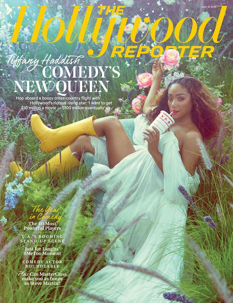 Tiffany Haddish covers The Hollywood Reporter.