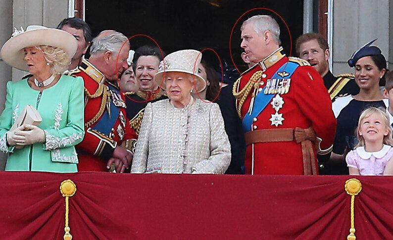 Princess Eugenie, Princess Anne, Princess Beatrice and Prince Andrew pictured at 2019 Trooping the colour