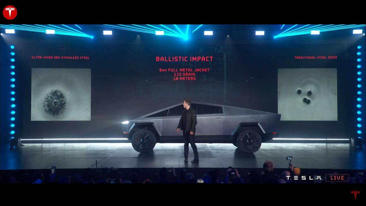 "<p>Elon Musk said the Cybertruck could resist 9 mm bullets. Does that make it an armored vehicle? No, it doesn't. There is no preparation for the pickup truck to hold up against these shots. It is just a characteristic of the material Tesla chose to build it.</p> <p>Oh, but the ""unbreakable glass"" is used in armored vehicles. So what? Tesla just had to use it because the exoskeleton has to employ these glasses as part of its structure, <a href=""https://insideevs.com/news/397899/tesla-cybertruck-analysis-explains-exoskeleton/"" target=""_blank"">as Peter Thompson explained in an educational video</a>.</p><h2></h2><ul><li><a href=""https://insideevs.com/news/400506/tesla-cybertruck-hotwheels-rc-model/?utm_campaign=yahoo-feed"">Tesla Cybertruck Hot Wheels RC Model Coming This Year</a></li><br><li><a href=""https://insideevs.com/news/400372/tesla-cybertruck-width-size/?utm_campaign=yahoo-feed"">Musk Reevaluates Tesla Cybertruck Width: Size Matters, So Go Wide</a></li><br></ul>"