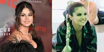 <p>Selena posted a behind-the-scenes promo for her next album <em>Rare</em>, which included a hot new hairstyle, as well as a very promising sound clip. The singer swapped her long chestnut extensions for a futuristic bleach blonde braid. Love that for her.</p>