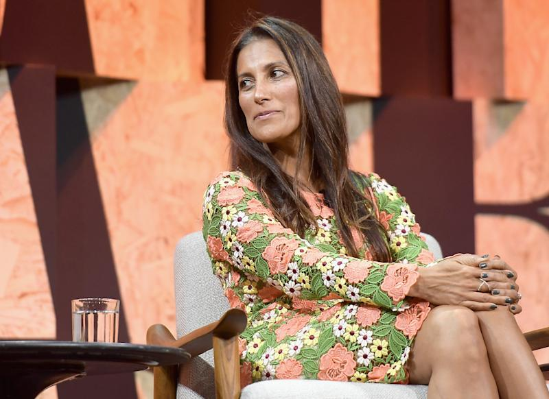 BEVERLY HILLS, CA - OCTOBER 03: Founder of theBoardlist Sukhinder Singh Cassidy speaks onstage during Vanity Fair New Establishment Summit at Wallis Annenberg Center for the Performing Arts on October 3, 2017 in Beverly Hills, California. (Photo by Matt Winkelmeyer/Getty Images)