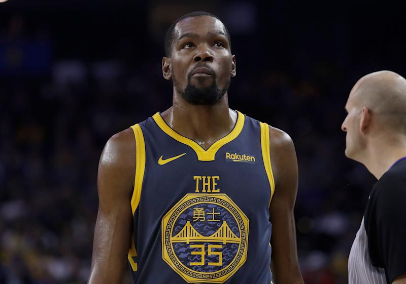 Will Kevin Durant return to dominate the NBA Finals for a third straight season? (AP)
