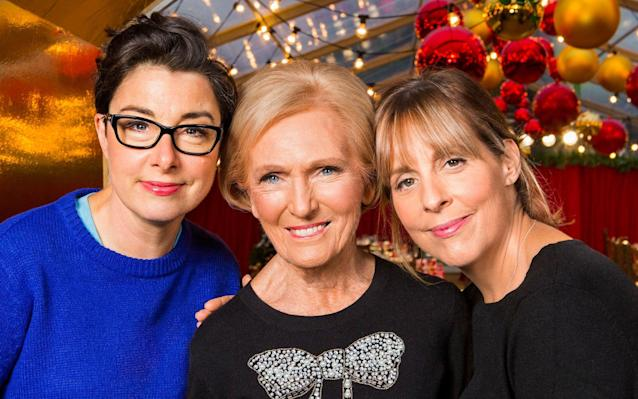 """Christmas Day Boxing Day Wednesday 27 Thursday 28 Friday 29 Christmas Eve Mary, Mel and Sue's Big Christmas Thank You BBC One, 7.00pm Anyone looking for some extra festive cheer should look no further than this exuberant Christmas special which sees former Great British Bake-Off stars Mary Berry, Sue Perkins and Mel Giedroyc join forces to help out at a community centre in the Rhondda Valley in Wales. Initially, it seems as though this is one of those rather forced shows in which celebrities dispense good cheer and bad jokes, but an emotional story of community spirit in the face of despair swiftly emerges. """"We've lost our library, our butchers, both banks have closed and there's no school,"""" states Elizabeth """"Buffy"""" Williams. Working with her friend Lynne, Buffy has attempted to combat that by opening a community centre offering meals, bingo and after-school classes. Now they want to throw a special Christmas meal for the whole community but it's tough: the kitchen is small, money is tight and Lynne freely admits that she hates cooking. Enter the indomitable Mrs Berry, who rolls up her sleeves, corrals Daffyd, a 16-year-old with a GCSE in catering, into becoming her sous chef and helps Lynne tackle her phobia. The final celebration should bring a tear to even the most cynical of eyes. Sarah Hughes Premiership Rugby Union: Leicester Tigers v Saracens BT Sport 1, 2.30pm Below-par this season, Leicester will be hoping a win here at Welford Park against third-placed Saracens will give them fresh momentum going into the new year. Countryfile BBC One, 6.00pm The team head to the Peak District for this special which sees John Craven exploring Longshaw Estate, Anita Rani experiencing a Nativity play with a difference and Matt Baker venturing into Peak Cavern for a carol concert. Christmas University Challenge 2017 BBC Two, 8.00pm; Scotland, 5.45pm There's something addictive about the University Challenge's specials, possibly because they allow us to see celebrities in a ne"""