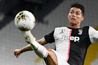 Cristiano Ronaldo and Juventus need to overturn a 1-0 first-leg deficit when they host Lyon on Friday (AFP Photo/MARCO BERTORELLO)