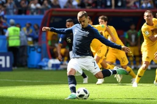 Griezmann scored the first penalty to be awarded by VAR in World Cup history against Australia