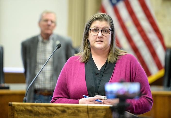Trisha Gardner, public health officer for the City-County Health Department, announces said she is closing bars and restaurants in Cascade County to help combat the spread of COVID-19.