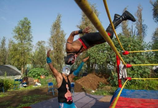The wrestlers have taken their art to Xochimilco, a maze of canals and artificial islands created centuries ago by the area's indigenous peoples