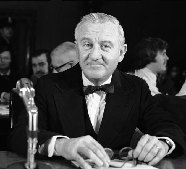 John Paul Stevens waits to testify Dec. 8, 1975, to the Senate. He was unanimously confirmed.