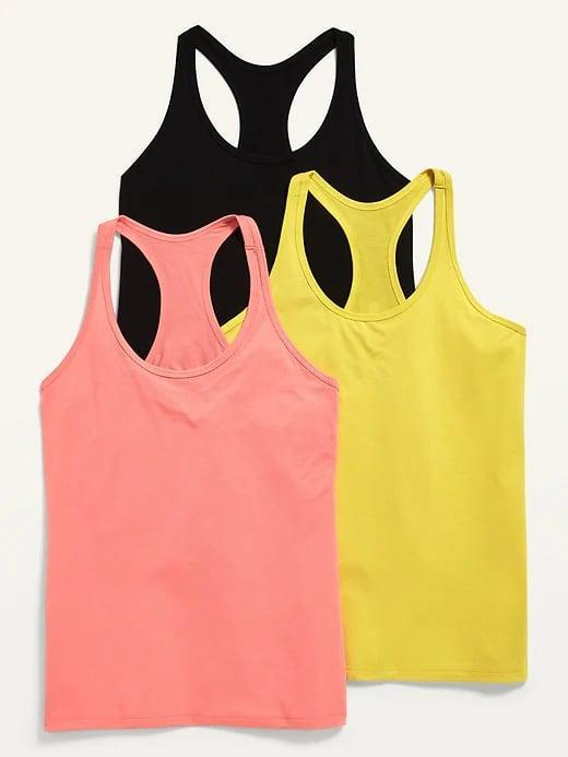 <p>Sure, you can <span>get a solo tank on sale</span> as well but how great is this deal for this <span>Old Navy Racerback Performance Tank Tops 3-Pack</span> ($15, originally $30) at five bucks a shirt?!</p>