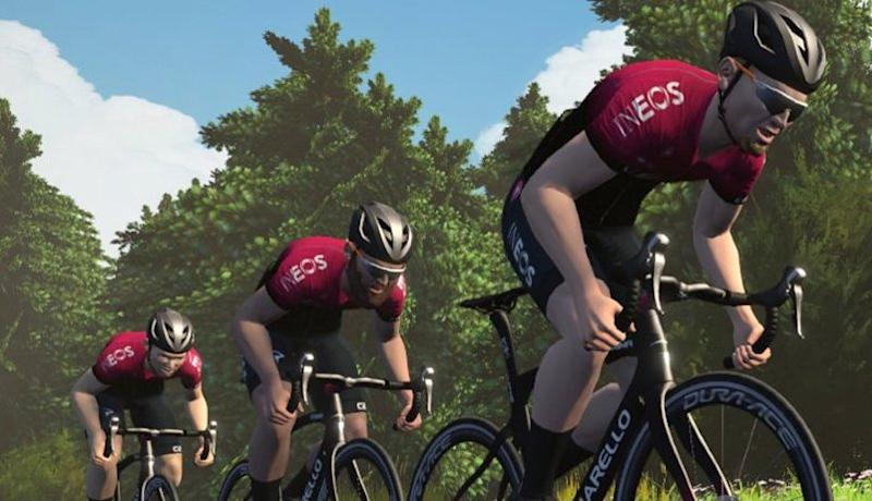 Team Ineos will race on Zwift during the COVID-19 pandemic