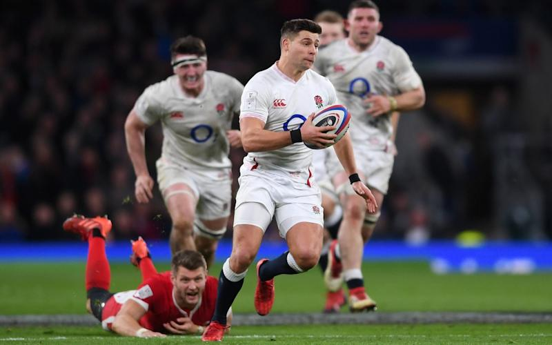 Ben Youngs of England breaks through the Wales defence during the 2020 Guinness Six Nations match between England and Wales at Twickenham Stadium on March 07, 2020 in London, England. - GETTY IMAGES