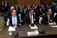 FILE PHOTO: Court hearings in case against Myanmar on alleged genocide of Rohingya, at the ICJ in The Hague