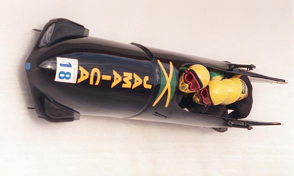 <p>They might not have got on the podium, but in the island nation's first-ever appearance at a Winter Games, the Jamaican bobsled team captured the imagination of fans at the 1988 Olympics in Calgary and were eventually immortalized in a Disney film. (Getty) </p>