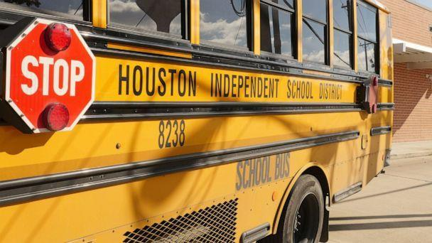 PHOTO: A school bus is seen outside Condit Elementary School in Bellaire, Texas, on Dec. 16, 2020. (Francois Picard/AFP via Getty Images, FILE)
