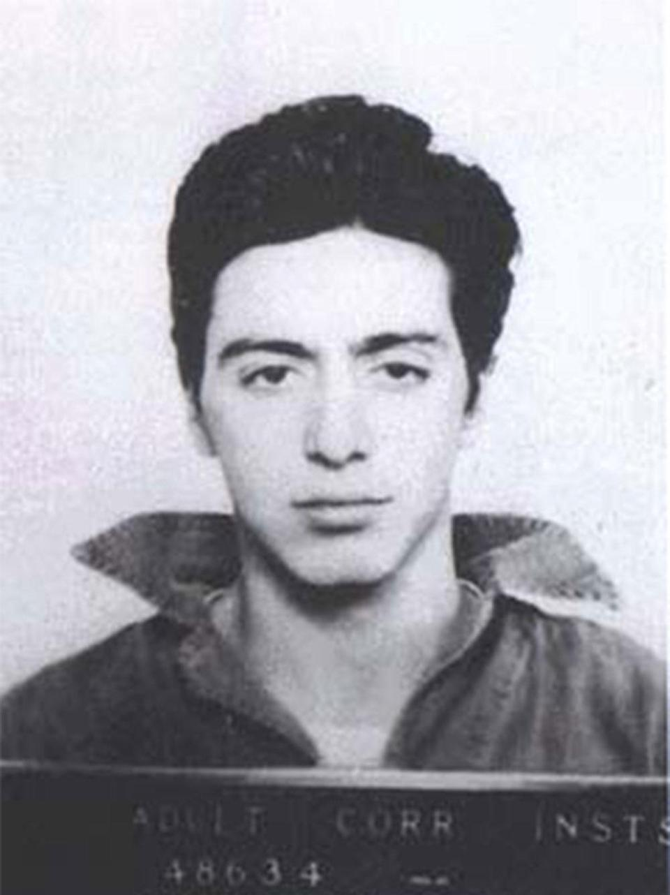 Al Pacino The acting legend just 21 when he was picked up by the police 1961 and arrested for carrying a concealed weapon.