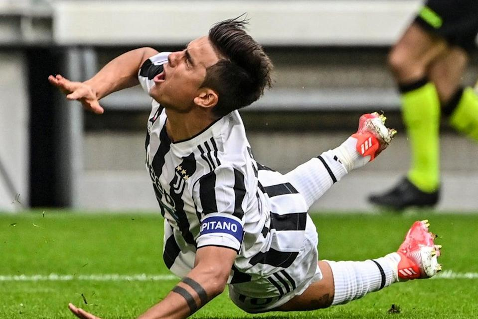 Juventus will be without Paulo Dybala for the Champions League visit of Chelsea on Wednesday (AFP via Getty Images)