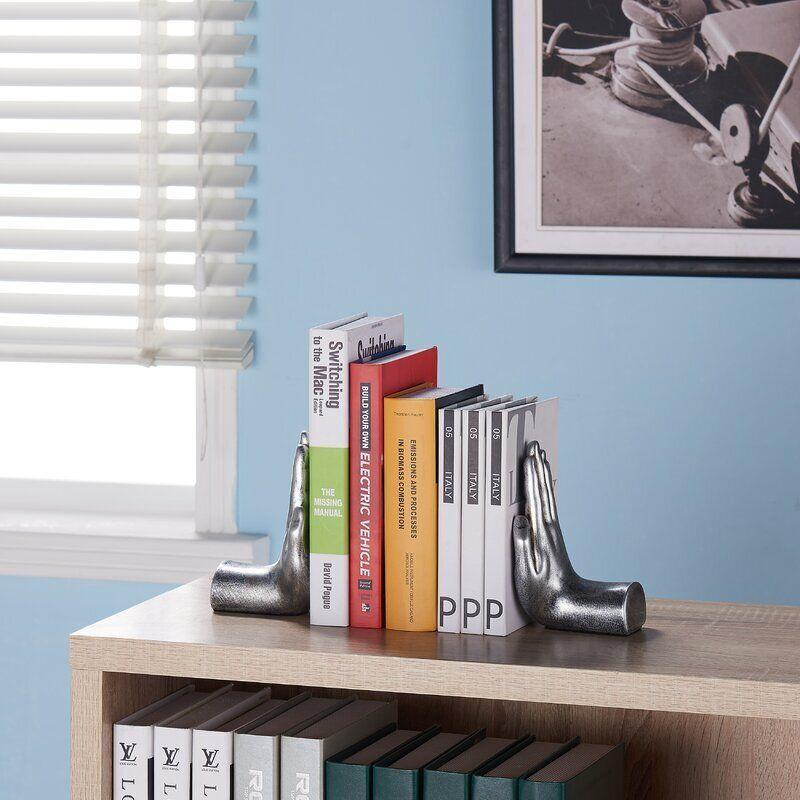 "Find this Deana Non-skid Bookends <a href=""https://www.wayfair.com/decor-pillows/pdp/allmodern-deana-non-skid-bookends-w003373956.html?piid=2092843898"" target=""_blank"" rel=""noopener noreferrer"">on sale for $31 (normally $35) at Wayfair.</a>"