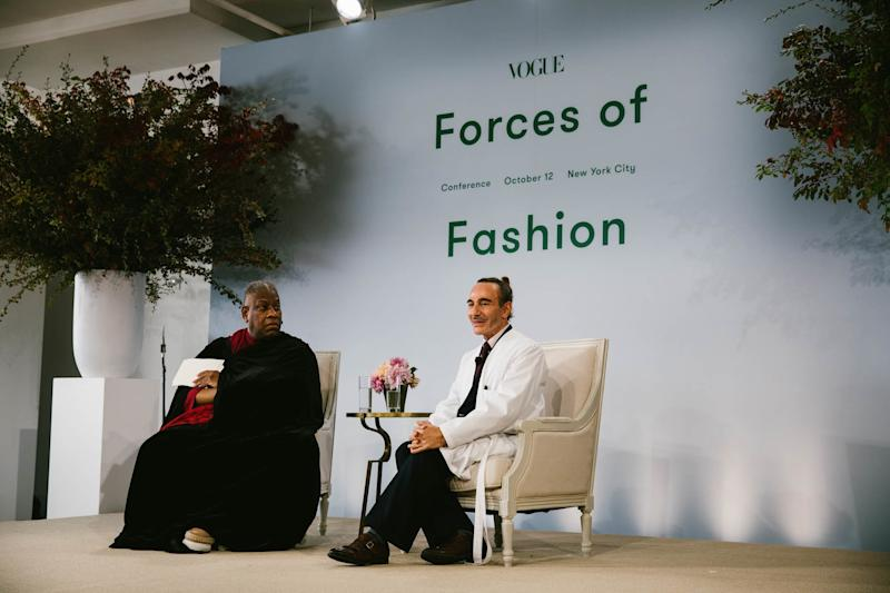 André Leon Talley and John Galliano