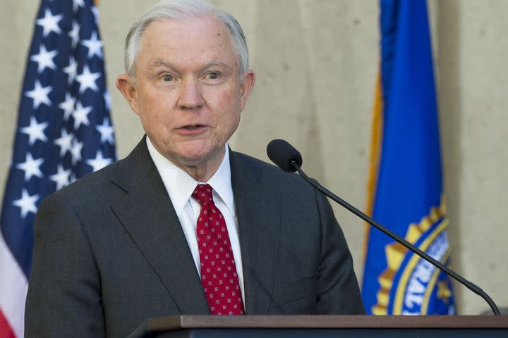 """<img alt=""""""""/><p>On Friday, Attorney General Jeff Sessions introduced new guidance for federal agencies that advocates fear legalizes discrimination against the LGBTQ community.</p> <p><a rel=""""nofollow"""" href=""""https://www.buzzfeed.com/dominicholden/jeff-sessions-just-issued-a-guidance-memo-on-protecting?utm_term=.idvq8vQxDq&bftwnews#.lj0NJpdnWN"""">The new guidance</a> says that the government cannot place an undue burden on people or businesses because """"the free exercise of religion includes the right to act or abstain from action in accordance with one's religious beliefs."""" Religious employers, including nonprofits, individuals and certain for profit businesses, are free to only hire people whose """"beliefs and conduct"""" are consistent with the """"employer's religious beliefs.""""</p> <p>Critics are concerned that could create legal grounds for discrimination: religious employers could potentially fire people for being gay or trans, or otherwise refuse to serve them.</p> <div><p>SEE ALSO: <a rel=""""nofollow"""" href=""""http://mashable.com/2017/04/15/swimwear-hate-gender-binary/?utm_campaign=Mash-BD-Synd-Yahoo-Watercooler-Full&utm_cid=Mash-BD-Synd-Yahoo-Watercooler-Full"""">The best swimwear if you want to throw gender norms in the trash</a></p></div> <p>Sessions' guidance is a new interpretation of already existing federal law, now tilted toward religious conservatives. Per the new directive, simply claiming that something or someone violated an employer's faith would be enough to override any existing anti-discrimination protections.</p> <p>""""Except in the narrowest circumstances, no one should be forced to choose between living out his or her faith and complying with the law,"""" <a rel=""""nofollow"""" href=""""http://www.nydailynews.com/news/politics/session-weakens-protections-lgbt-people-new-directive-article-1.3545586?cid=bitly"""">Sessions wrote</a>. """"To the greatest extent practicable and permitted by law, religious observance and practice should be reasonably accommodated in all government ac"""