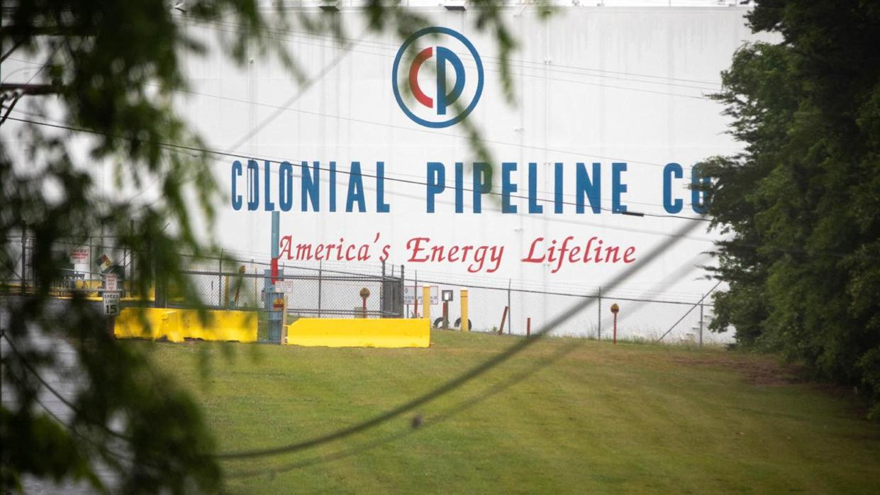 A Colonial Pipeline storage site in Charlotte, North Carolina on May 12, 2021. (Logan Cyrus/AFP via Getty Images)