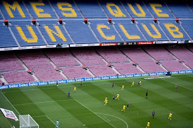 FC Barcelona played Las Palmas at an empty Nou Camp: Getty 2017