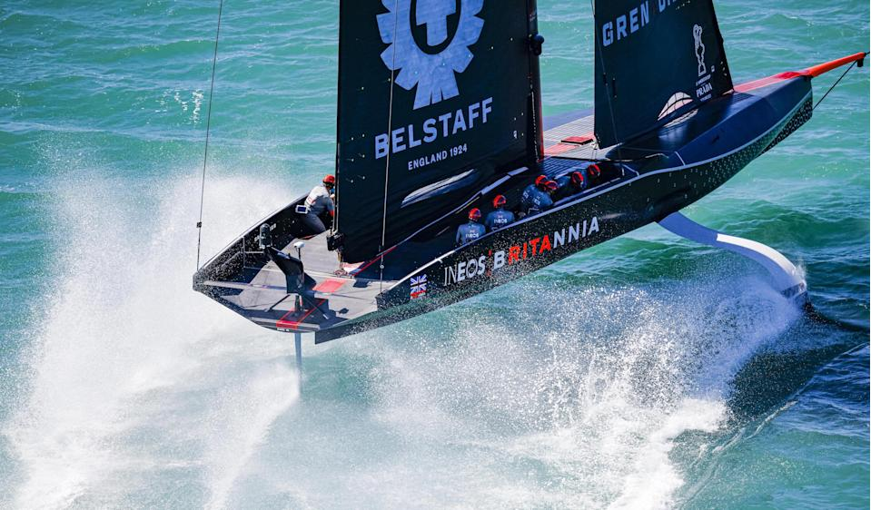 Sir Ben Ainslie's Britannia in action in the Prada Cup final in Auckland, the winner of which will contest the 36th America's Cup match © COR 36 | Studio Borlenghi