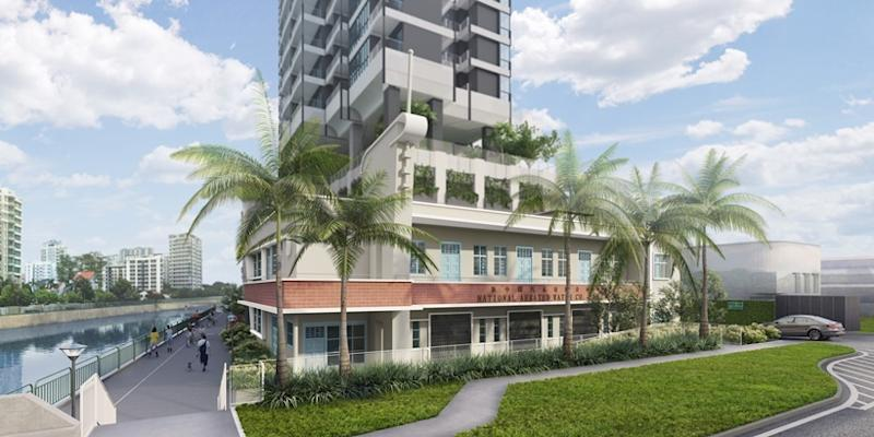 The Urban Redevelopment Authority revealed that both public and private housing will be introduced in precincts along the Kallang River.