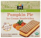 <p>Ice cream sandwiches are a dessert as classic as they come, and Whole Foods is giving the traditional treat a seasonal upgrade. These desserts feature pumpkin pie-flavored wafers and ice cream so every bite will get you in the fall mood.</p>