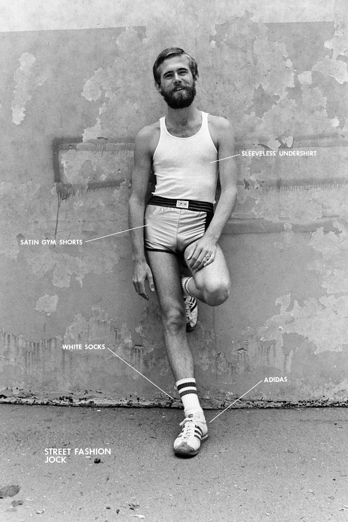 Image: Street Fashion Jock from the series Gay Semiotics (Hal Fischer)