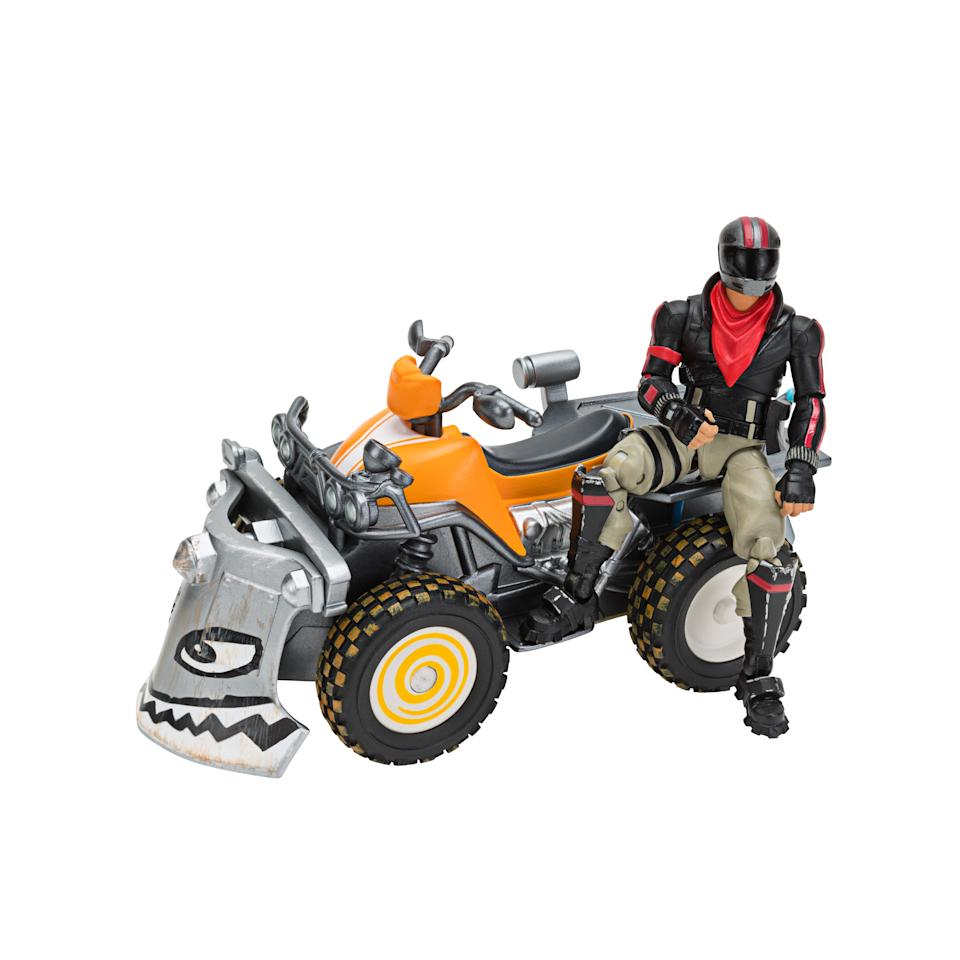 Fortnite Quadcrasher Vehicle with Burnout 4-inch Action Figure. (Photo: Walmart)