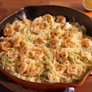 """<p>This pasta is truly heaven sent. Buttery, garlicky <a href=""""https://www.delish.com/uk/cooking/recipes/a31952820/prawn-salad/"""" rel=""""nofollow noopener"""" target=""""_blank"""" data-ylk=""""slk:prawns"""" class=""""link rapid-noclick-resp"""">prawns</a> tossed in a creamy Parmesan white wine sauce, then folded into a bed of angel hair pasta and topped with fresh herbs—and it's all ready in just under 30 minutes. Cooking at home has truly never felt so easy and tasted so good.</p><p>Get the <a href=""""https://www.delish.com/uk/cooking/recipes/a32204917/best-garlic-butter-shrimp-pasta-recipe/"""" rel=""""nofollow noopener"""" target=""""_blank"""" data-ylk=""""slk:Garlic Butter Prawn Pasta"""" class=""""link rapid-noclick-resp"""">Garlic Butter Prawn Pasta</a> recipe.</p>"""