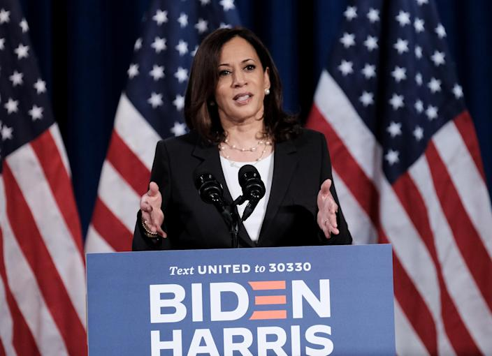 Democratic vice presidential nominee Sen. Kamala Harris. (Michael A. McCoy/Getty Images)