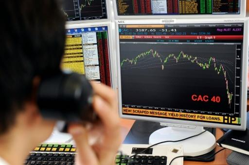 Paris, Madrid stocks down more than 3% as oil drops back under $30
