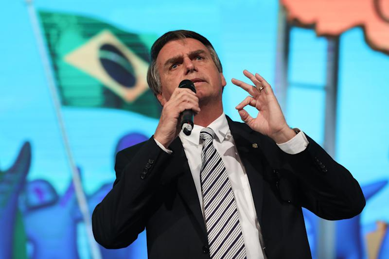 Bolsonaro has admitted his ignorance on economic issues, and through most of his political career, he has opposed the market-friendly policies of Brazil's traditional center-right parties. (Photo: Bloomberg via Getty Images)