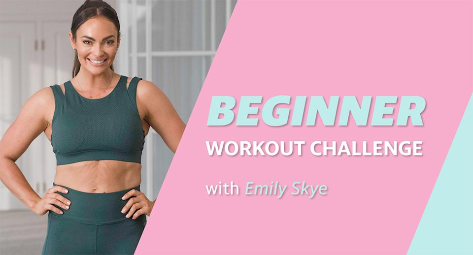 Yahoo Lifestyle workout series with Emily Skye