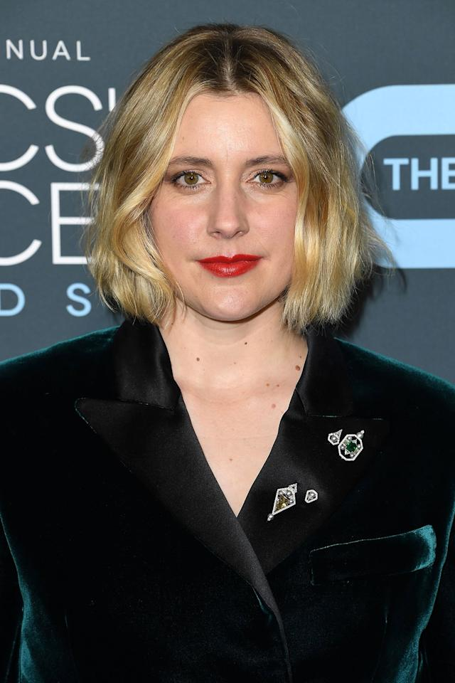 """<p>For Greta Gerwig's classic red lip, makeup artist <a href=""""https://www.instagram.com/sabrinabmakeup/"""" target=""""_blank"""">Sabrina Bedrani</a> went with <a href=""""https://click.linksynergy.com/deeplink?id=93xLBvPhAeE&mid=2417&murl=https%3A%2F%2Fwww.sephora.com%2Fproduct%2Frouge-dior-lipstick-P411036&u1=IS%2CRedLipstickTrend%2Clukase%2C%2CIMA%2C3514208%2C202001%2CI"""" target=""""_blank"""">Dior's Rouge Dior 999 Lipstick</a>. This iconic shade was designed to look good on everyone. </p>"""