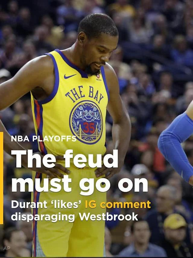 Kevin Durant 'likes' Instagram comment disparaging Russell Westbrook