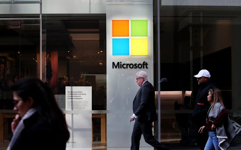 A Microsoft store in Sydney - Bloomberg
