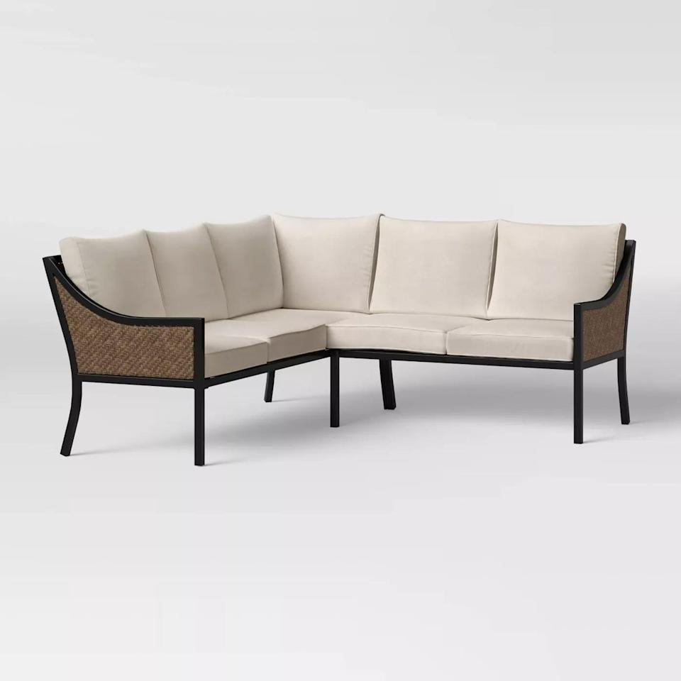 <p>There will be plenty of room for entertaining with the <span>Caning Modern Patio Sectional</span> ($900).</p>