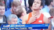 """Manzano licks his fingers and touches his throat as part of his pre-race ritual. Think that's weird? Wait until you see the <a href=""""http://www.youtube.com/watch?v=SikiIwOptB8"""" rel=""""nofollow noopener"""" target=""""_blank"""" data-ylk=""""slk:video clip"""" class=""""link rapid-noclick-resp"""">video clip</a>."""