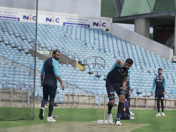 Indian bowlers during the training session (Image: BCCI)