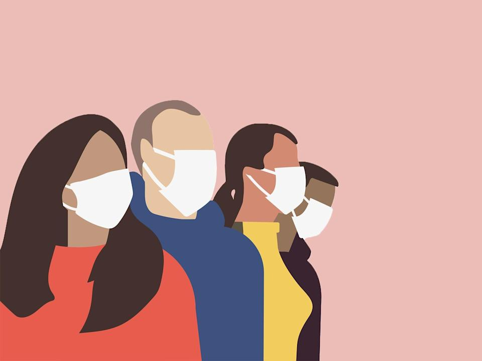 These can help reduce 'maskne' - breakouts caused by trapped heat and increased humidity from wearing face coverings (iStock)
