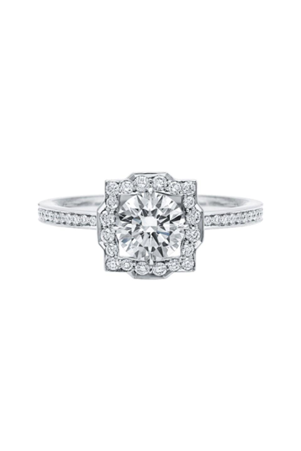 """<p><strong>Harry Winston</strong></p><p>harrywinston.com</p><p><strong>$12400.00</strong></p><p><a href=""""https://www.harrywinston.com/en/belle-harry-winston%E2%84%A2-round-brilliant-diamond-micropav%C3%A9-engagement-ring"""" rel=""""nofollow noopener"""" target=""""_blank"""" data-ylk=""""slk:Shop Now"""" class=""""link rapid-noclick-resp"""">Shop Now</a></p><p>Harry Winston's brilliant-cut diamond ring is the perfect balance of modern and vintage.</p>"""