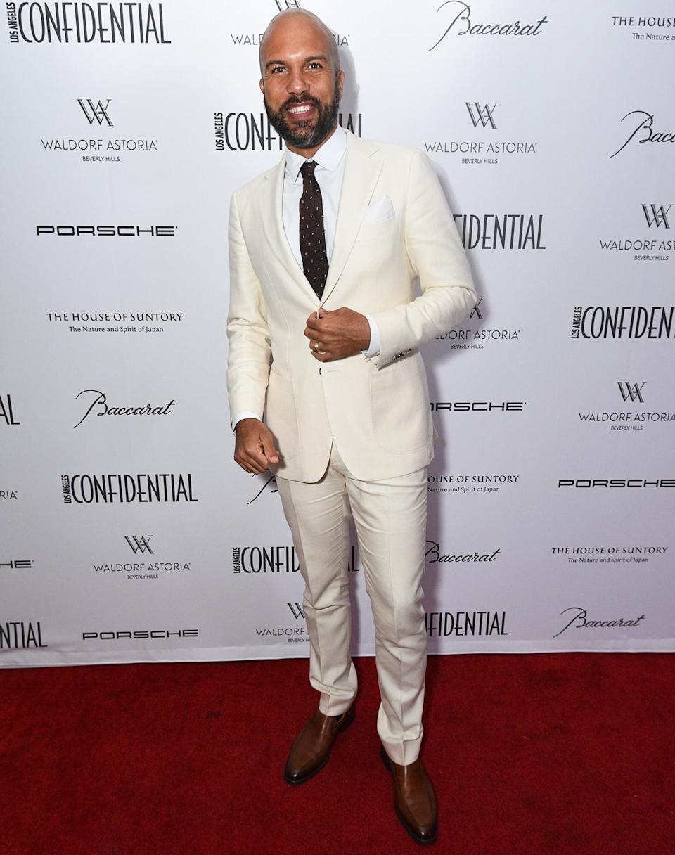 <p>at <i>Los Angeles Confidential</i>'s toast to this year's nominees on the patio at Jean Georges at the Waldorf Astoria Hotel in Beverly Hills on Sept. 17.</p>