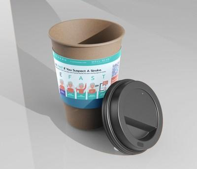 Coffee Cup Sleeve that will be dispersed to 14,000 customers across the country.