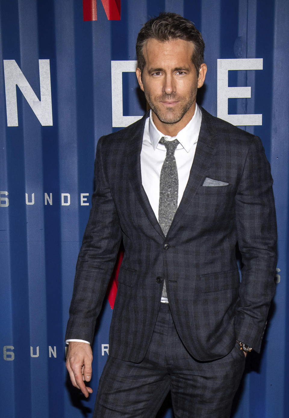 """FILE - Ryan Reynolds attends the premiere of Netflix's """"6 Underground"""" on Dec. 10, 2019, in New York. Reynolds turns 45 on Oct. 23. (Photo by Charles Sykes/Invision/AP, File)"""