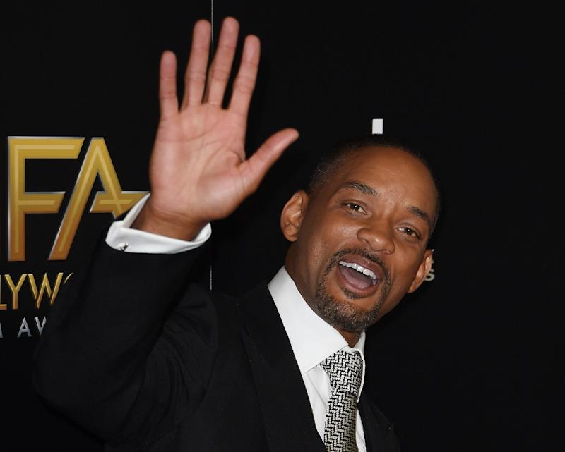 Actor Will Smith arrives for the 19th Annual Hollywood Film Awards at The Beverly Hilton Hotel in Beverly Hills, California on November 1, 2015